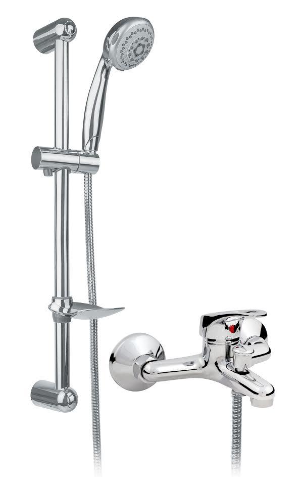 badewannen armatur mit brausegarnitur wasserhahn aufputz bad wannenarmatur eco ebay. Black Bedroom Furniture Sets. Home Design Ideas