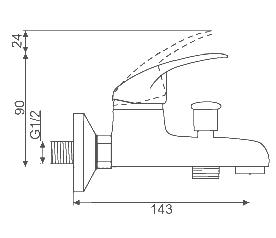 badewannen armatur jupiter dusch set brause wasserhahn aufputz bad wannenarmatur ebay. Black Bedroom Furniture Sets. Home Design Ideas