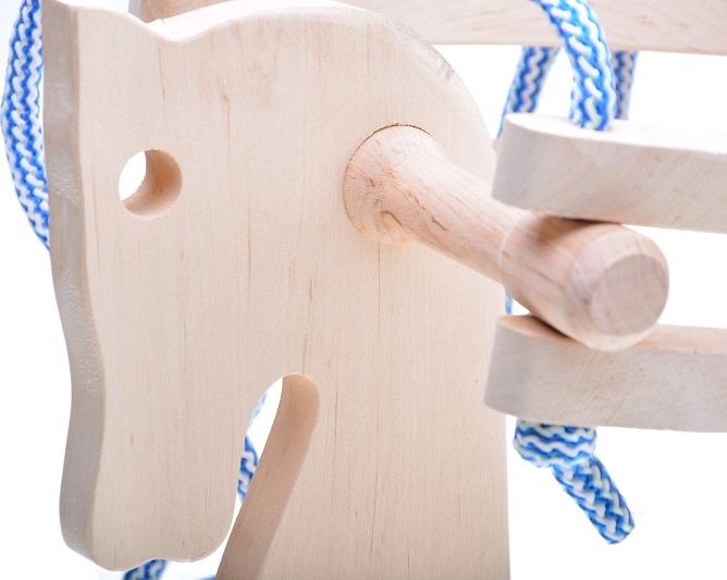 kinderschaukel seil holzschaukelpferd f r kleinkind babyschaukel pferd holz neu. Black Bedroom Furniture Sets. Home Design Ideas